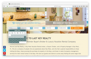 Home Page booking